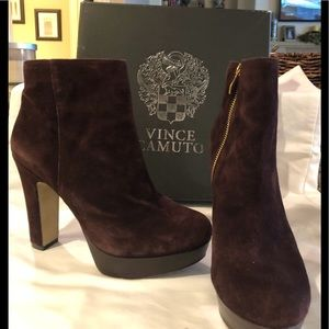 Vince Camuto Shoes - Vince Camuto brown suede bootie